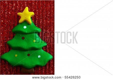 Festive clay Christmas Tree