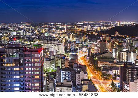 Sendai, Japan cityscape