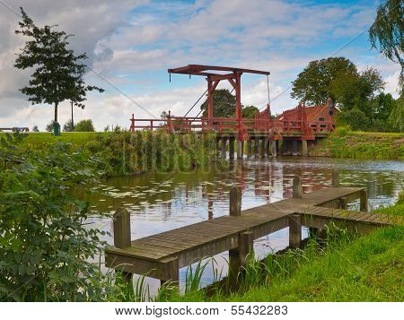 Old Wooden Drawbridge