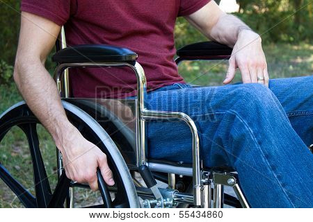 Disability Man Wheelchair