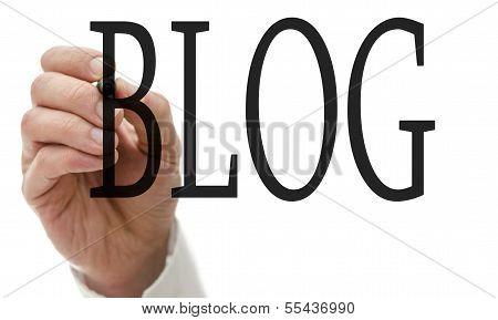 Writing Blog On Virtual Screen