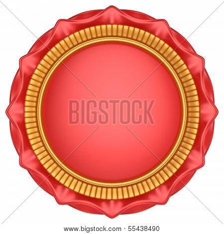 Abstract Circle Label Isolated On White Background.