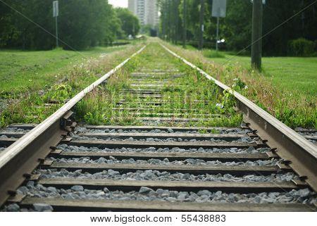 Rail tracks for high level train/tram in Edmonton