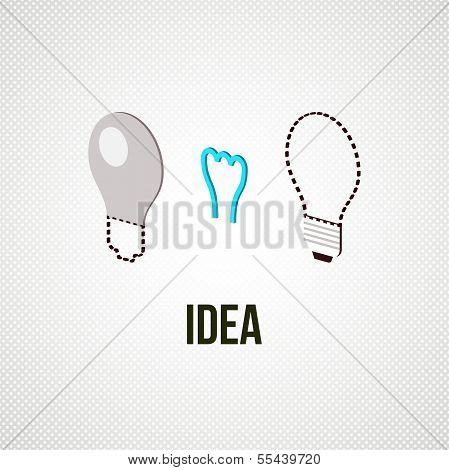 light bub the idea concept