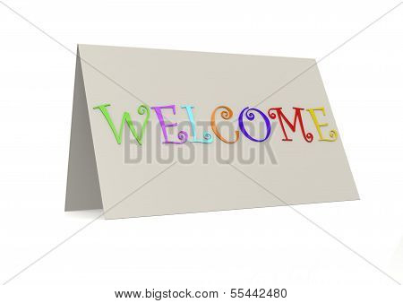 Welcome with folder paper