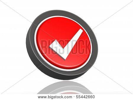 Tick round icon