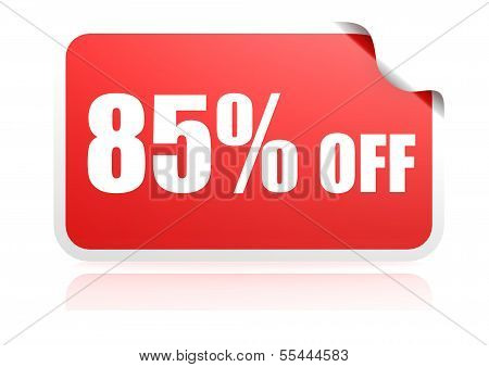 85 percent off sticker