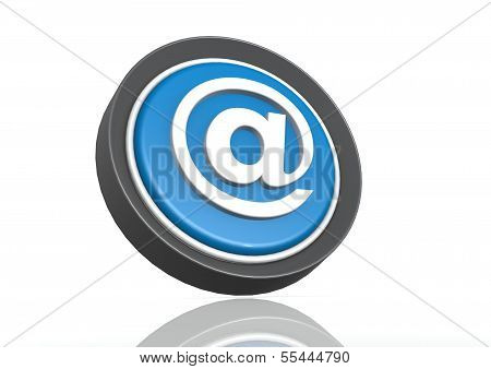 Alias round icon in blue