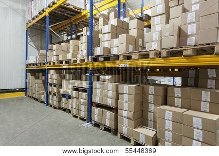 Boxes On A Stillage