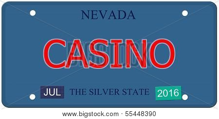 Casino Nevada License Plate