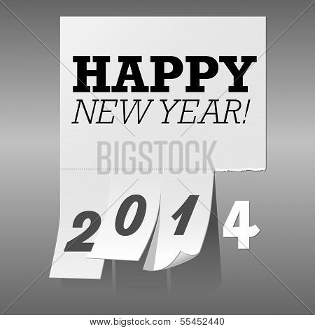 New Year 2014 Tear Off Paper Background