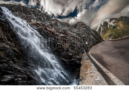 Mountain Pass Waterfall