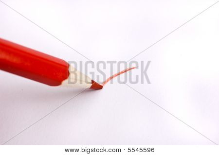 Drawing with a red pencil