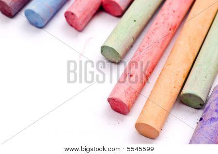 Chalks in various vivid colors