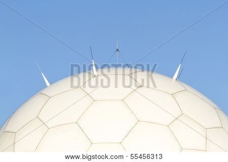 Close Up Of Titterstone Clee Hill, National Air Traffic Services Radar Dome