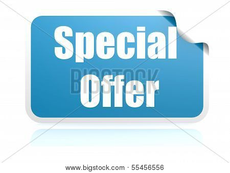 Special offer blue sticker
