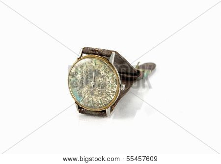 Old Watch With Leather