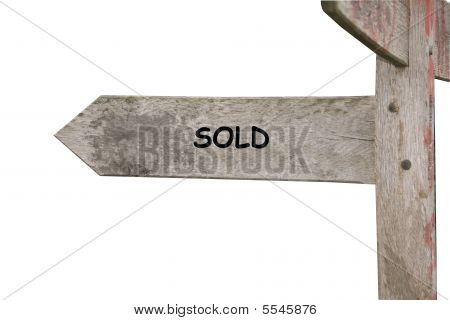 Sold Themed Street Sign