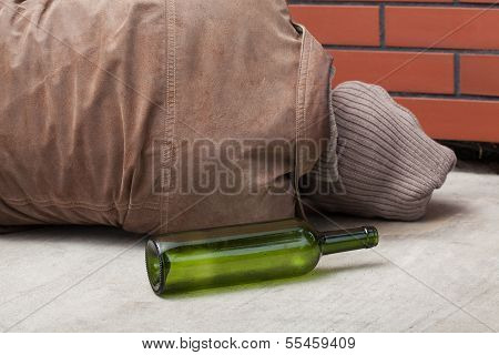 Drunkard And Bottle