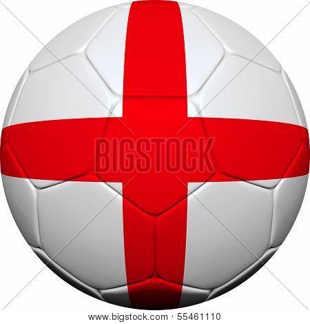 English Flag With Soccer Ball