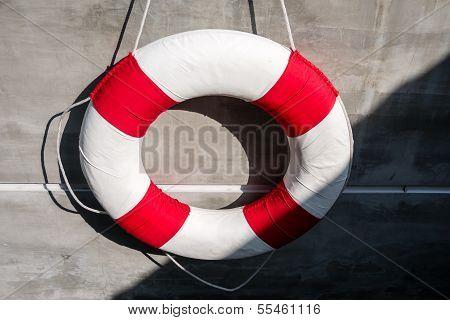 Hanging Old Life Saving Ring