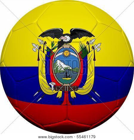 ecuadorianische Flagge mit Fußball