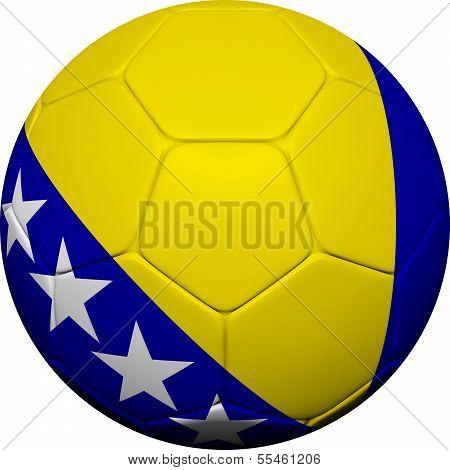 Bosnia And Herzegovina Flag With Soccer Ball