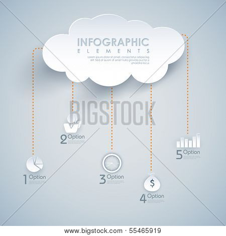 illustration of infographic chart of cloud computing