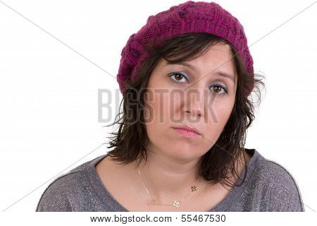 Woman With A Mournful Woebegone Expression