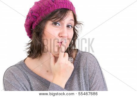 Distrustful Sceptical Woman