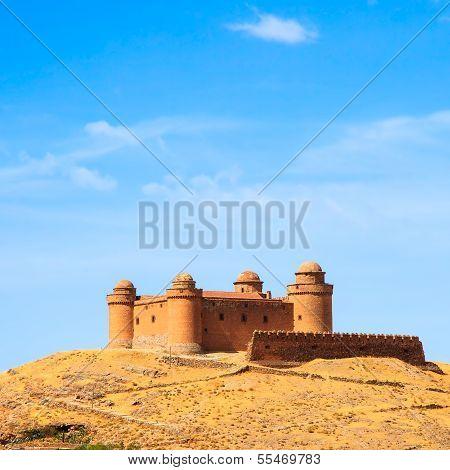 Castle On Hill, Castillo De La Calahorra And Village, Granada, Andalusia, Spain
