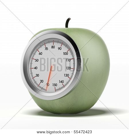 Green Apple With Scale