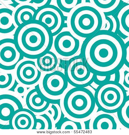 Black and white hypnotic seamless pattern background. Vector ill