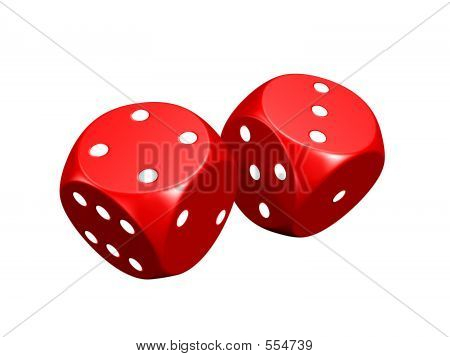 Red Dice (isolated)