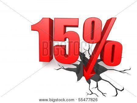 Fifteen percent down