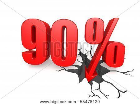 Ninety percent down