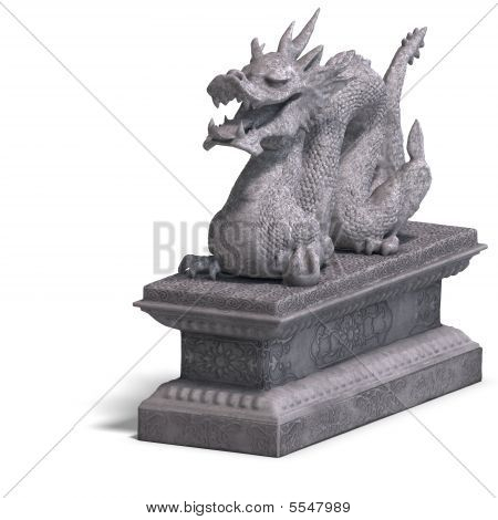Chinese Dragon Stone Statue