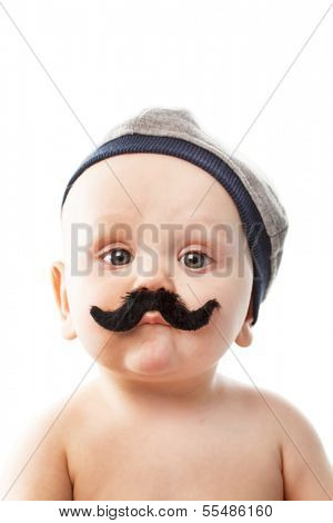 cute baby with mustaches