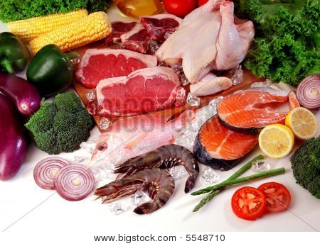 Fresh Meat With Vegetables