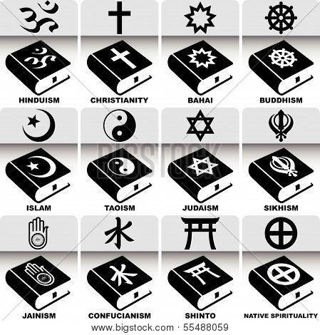 Religion Signs and Holy Books