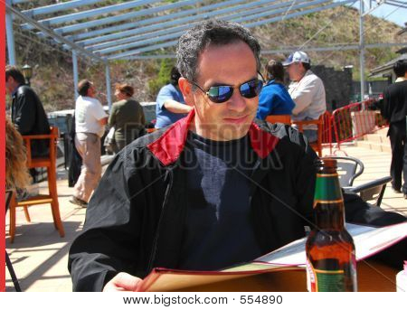 Man Restaurant Patio