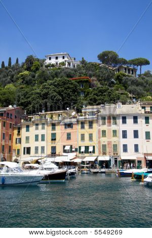 Portofino With The Pastel Color Houses