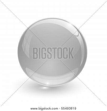 Grey Glassy Ball