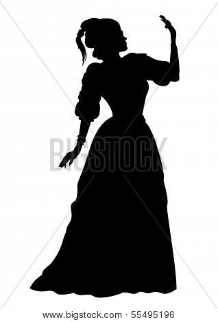 Silhouette Woman In A Ball Gown