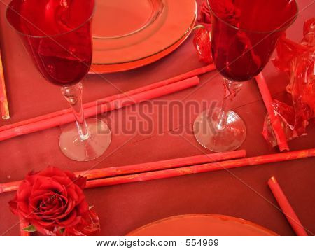 Evening Table (table And Place Settings)