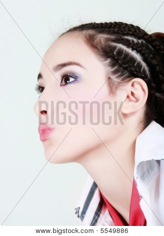 Glamour Portrait Of Attractive Young Girl