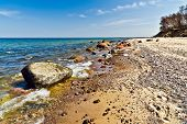 Beautiful Baltic Beach: Sea, Rocks And Sand
