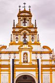 pic of 1700s  - Basilica de la Macarena Bell Tower with Bronze Bells and Weather Vanes Seville Andalusia Spain - JPG