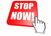 Stop now button with cursor