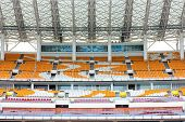 stock photo of olympic stadium construction  - HaiXinSha Asian Games Park stadium - JPG